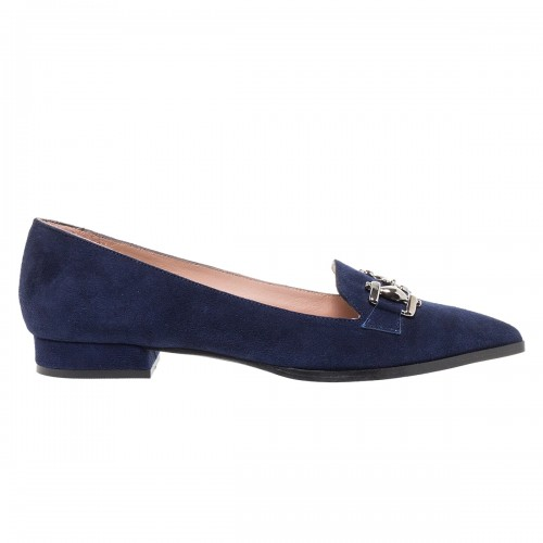 MOURTZI NAVY SUEDE ΜΥΤΕΡΑ LOAFERS ΜΕ ΔΙΑΚΟΣΜΗΤΙΚΟ