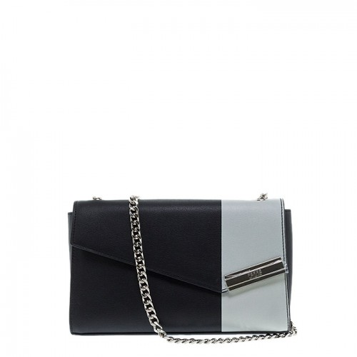 FERRE COLLEZIONI BLACK-WHITE  SHOULDER BAG