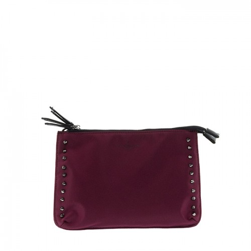 PAUL'S BOUTIQUE I BURGUNDY LEINSTER BORDEAUX CLUTCH BAG