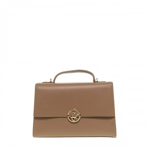 BEVERLY HILLS POLO CLUB TAUPE ECO LEATHER ΤΣΑΝΤΑ ΧΕΙΡΟΣ