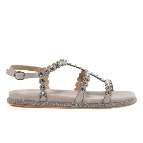 ALMA ΕΝ ΡΕΝΑ TAUPE SUEDE FLAT ΠΕΔΙΛΑ ΜΕ STRASS