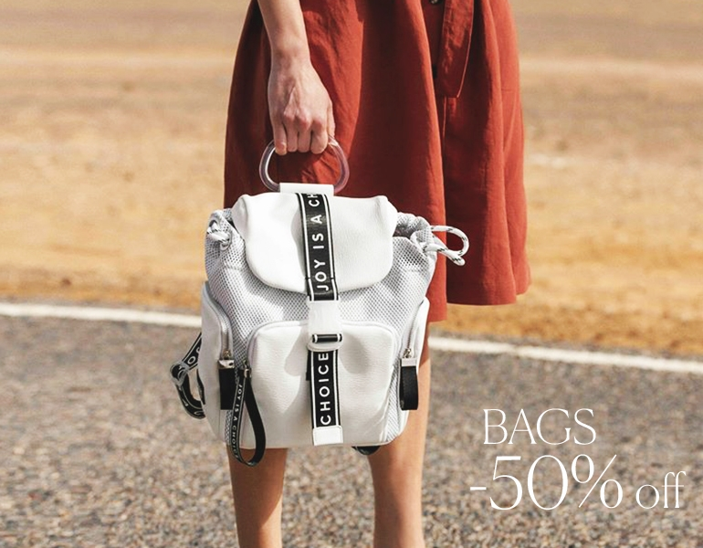 BAGS -50% OFF